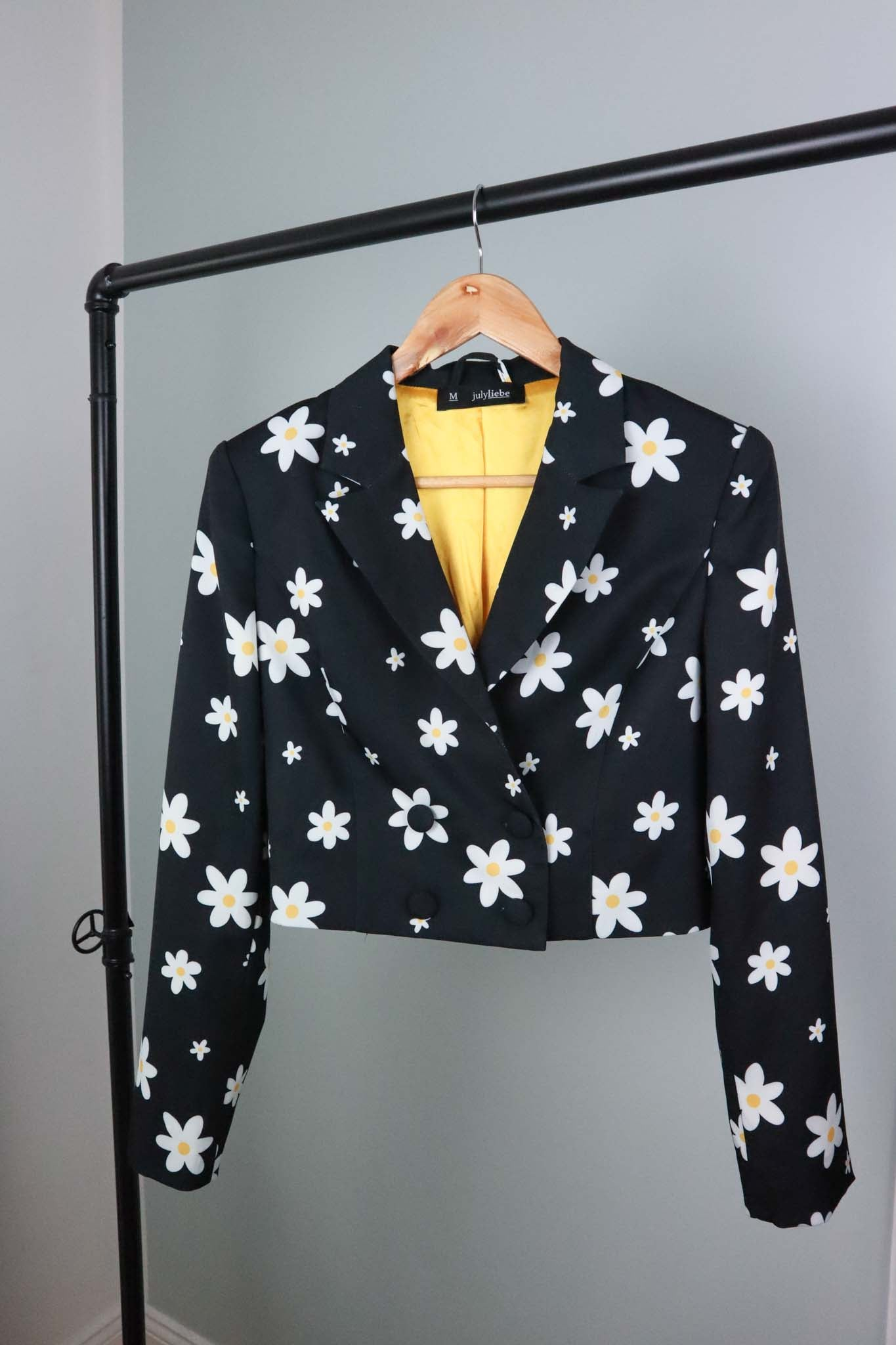 CROP BLAZER NIGHT BLOSSOM