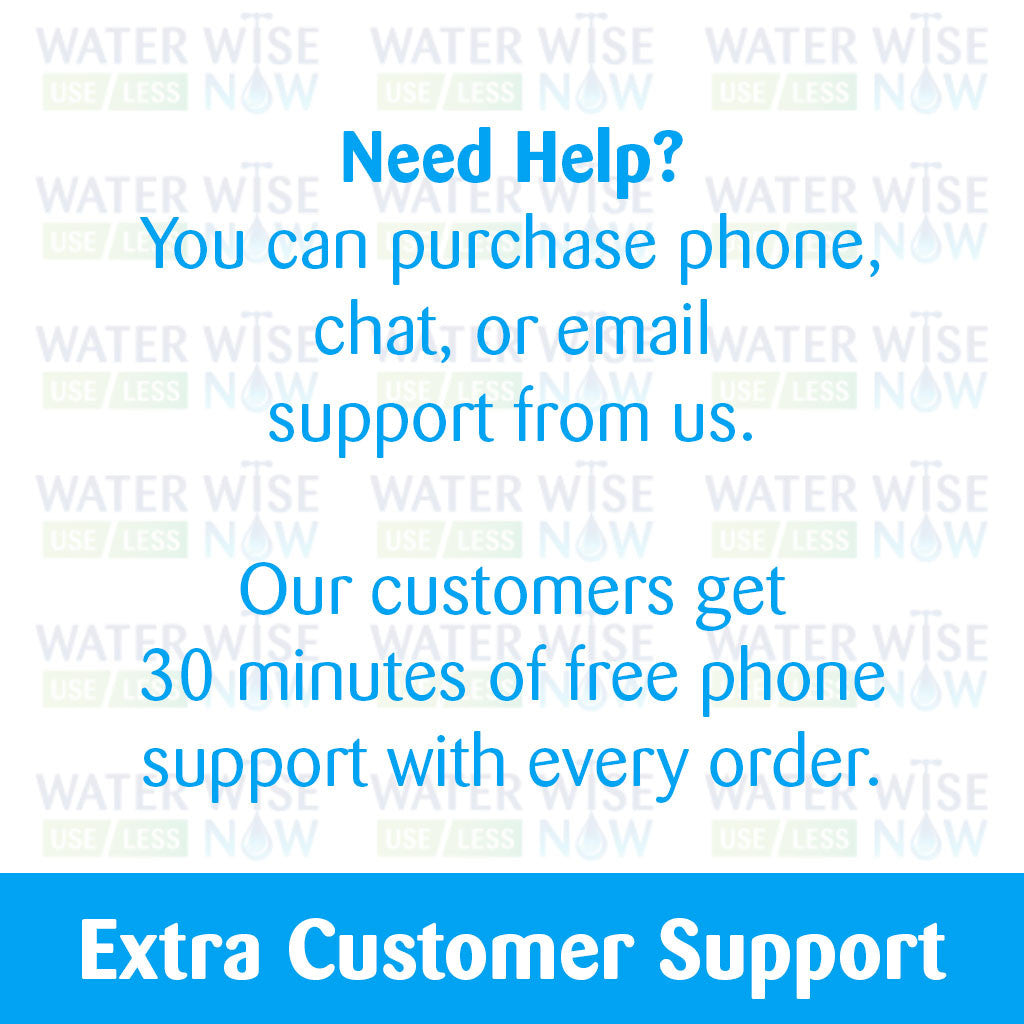 Phone, Email, or Chat Support - Water Wise Now
