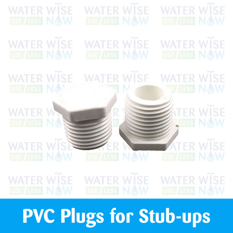 PVC Plugs, Male Threaded - Water Wise Now