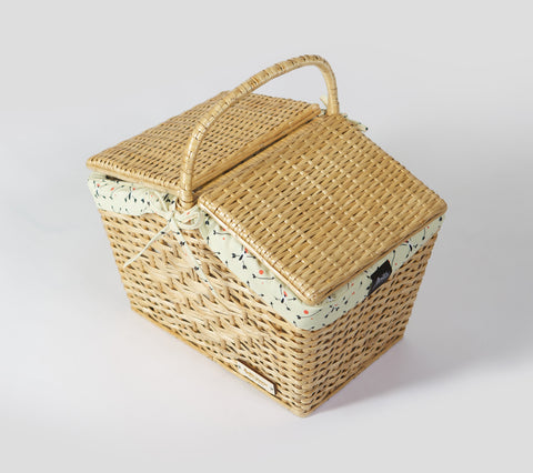 "Natural Basket  ""Yellow Woodpecker"""