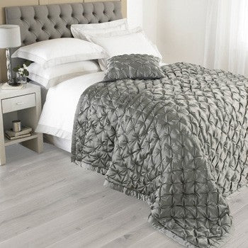 Limoges Bedspread. Large Grey Quilted Bedspread by Riva