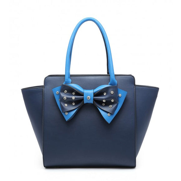 Blueberry Bow Shoulder Bag - Total Linen