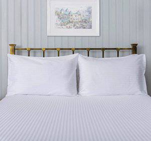 Hotel 200 Thread Count Satin Stripe Pillowcases - Total Linen