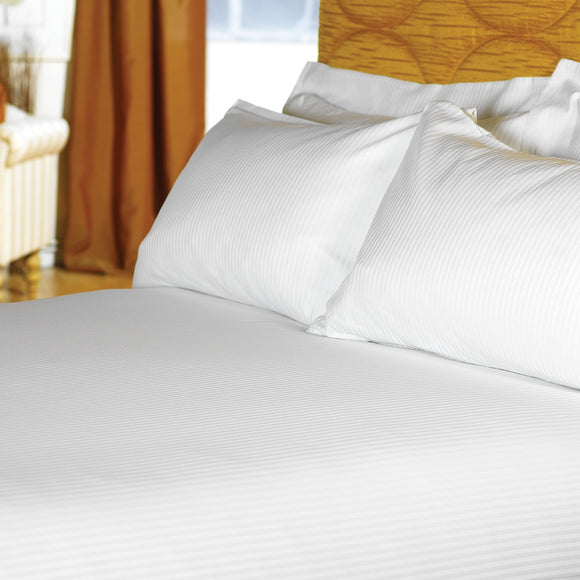 Hotel 200 Thread Count Satin Stripe Linen Collection. Duvet Covers, Pillowcases - Total Linen