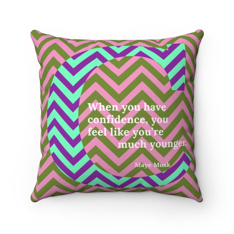 Confident Chevron - pillow