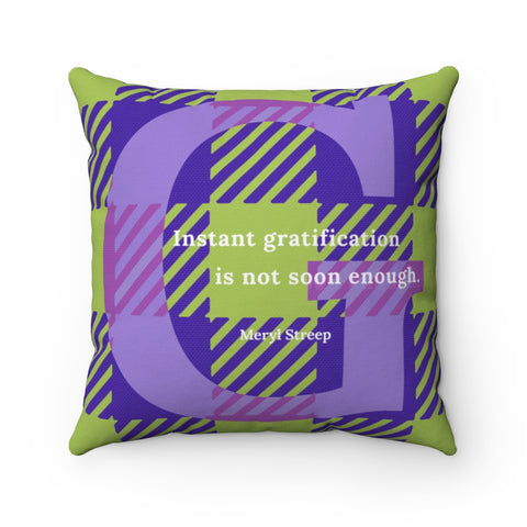 Gingham Gratification - pillow