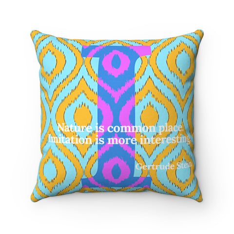 Imitation Ikat - pillow