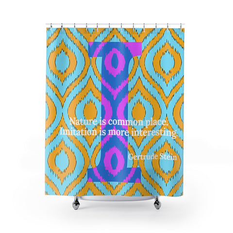Imitation Ikat - shower curtains
