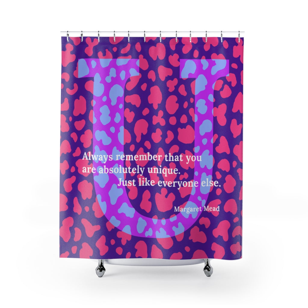 Uniquely Undirectional - shower curtain