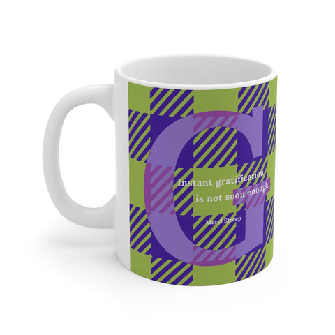Gingham Gratification - mug