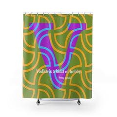 Vermicular Vodka - Shower Curtain