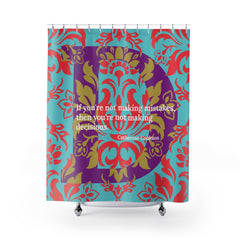 Decisive Damask - shower curtain