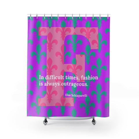 Fleur-de-lis Fashion - shower curtains
