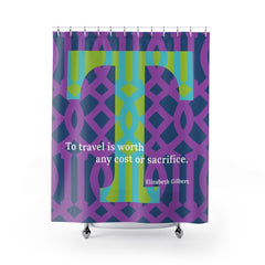 Travelling Trellis - shower curtain
