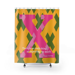 X - Expecting Excellence - shower curtain