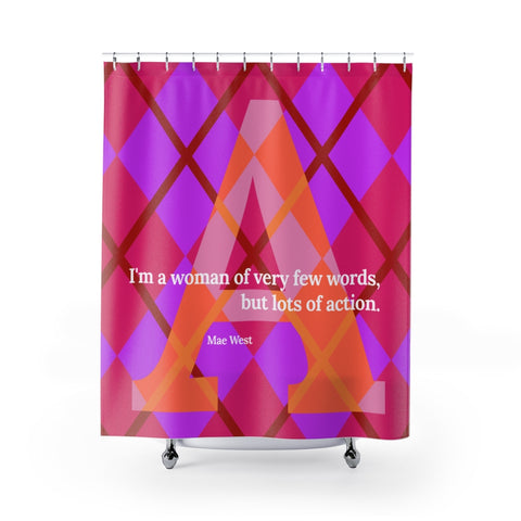 Action Argyle - shower curtains