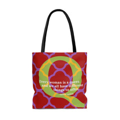 Quatrefoil Queen - tote bag