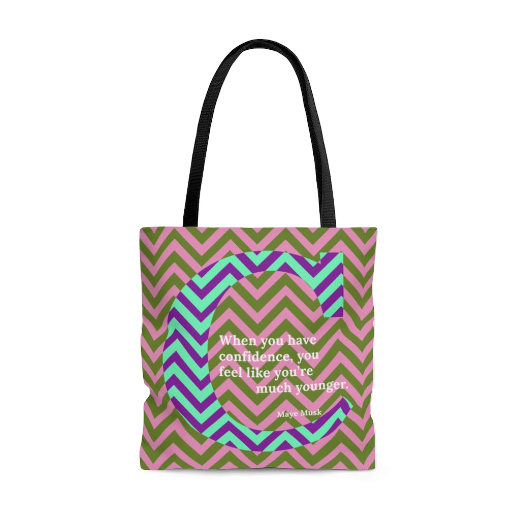 Confident Chevron - tote bag