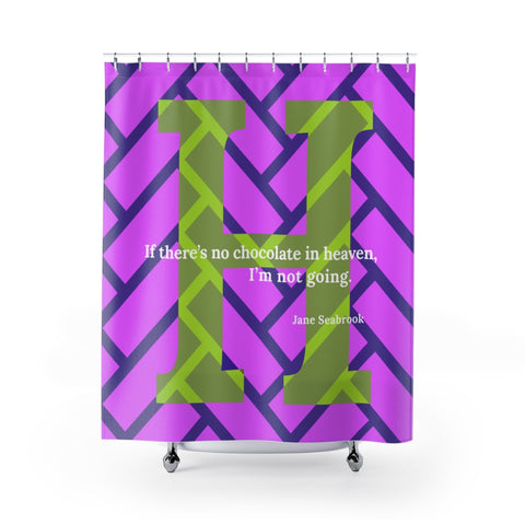 Heavenly Herringbone - shower curtains