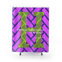 Heavenly Herringbone - shower curtain