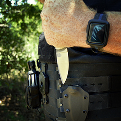 Crowner Knives and tools protection - vendetta fighter carried by law enforcement, military and professionals