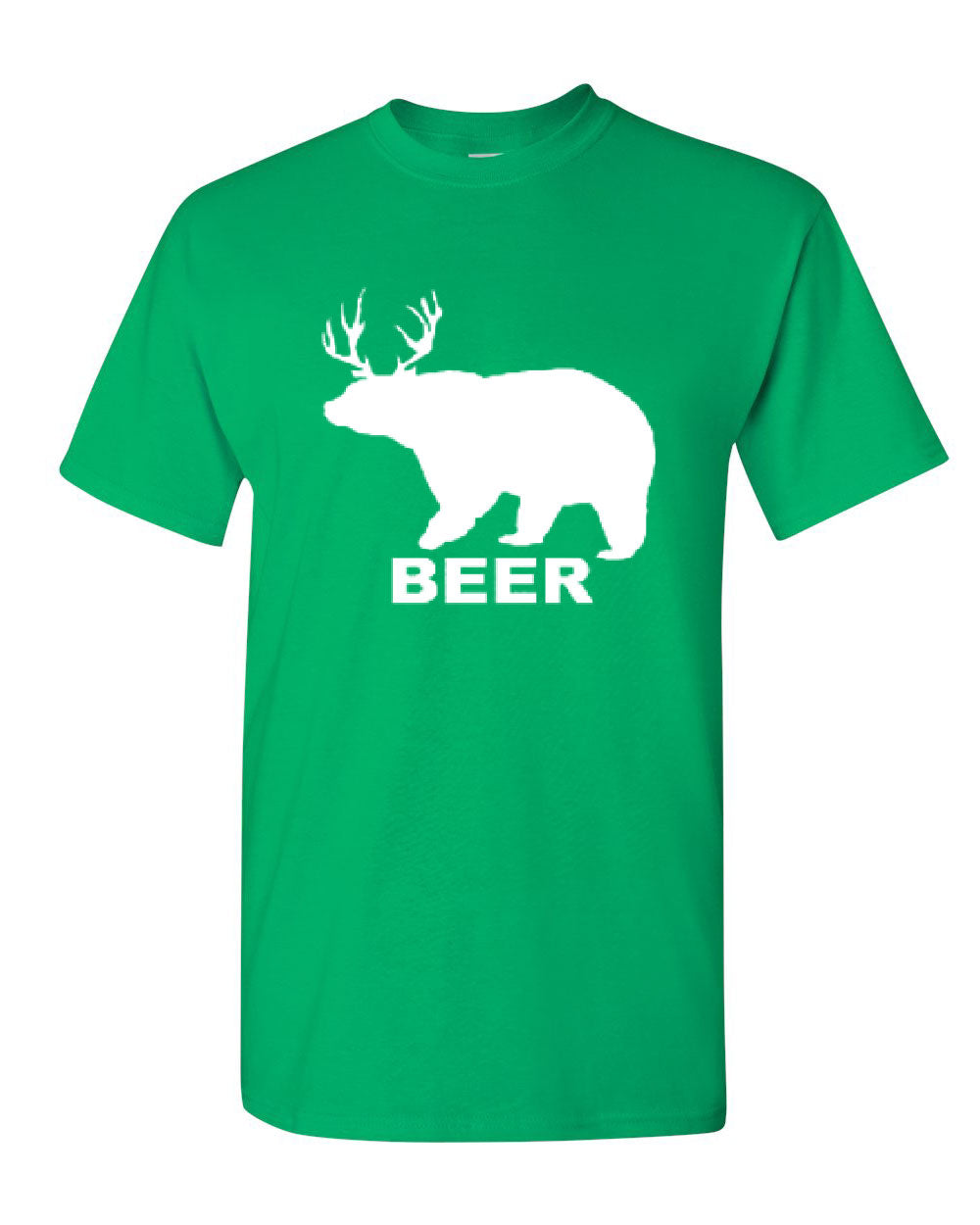 bear deer beer funny drinking t shirt beer tee shirt. Black Bedroom Furniture Sets. Home Design Ideas