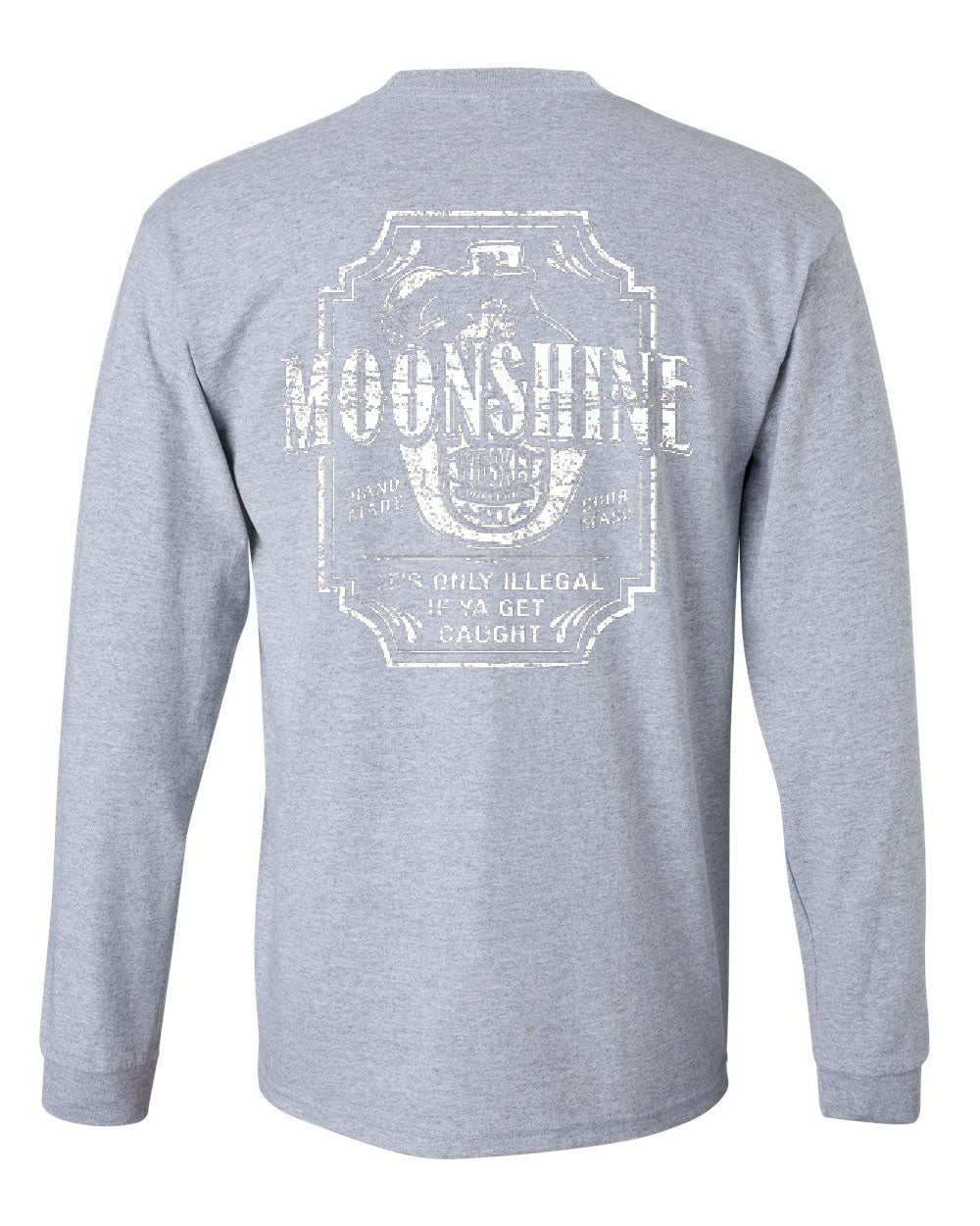 Moonshine tennessee whiskey long sleeve t shirt smoky for Mountain long sleeve t shirts