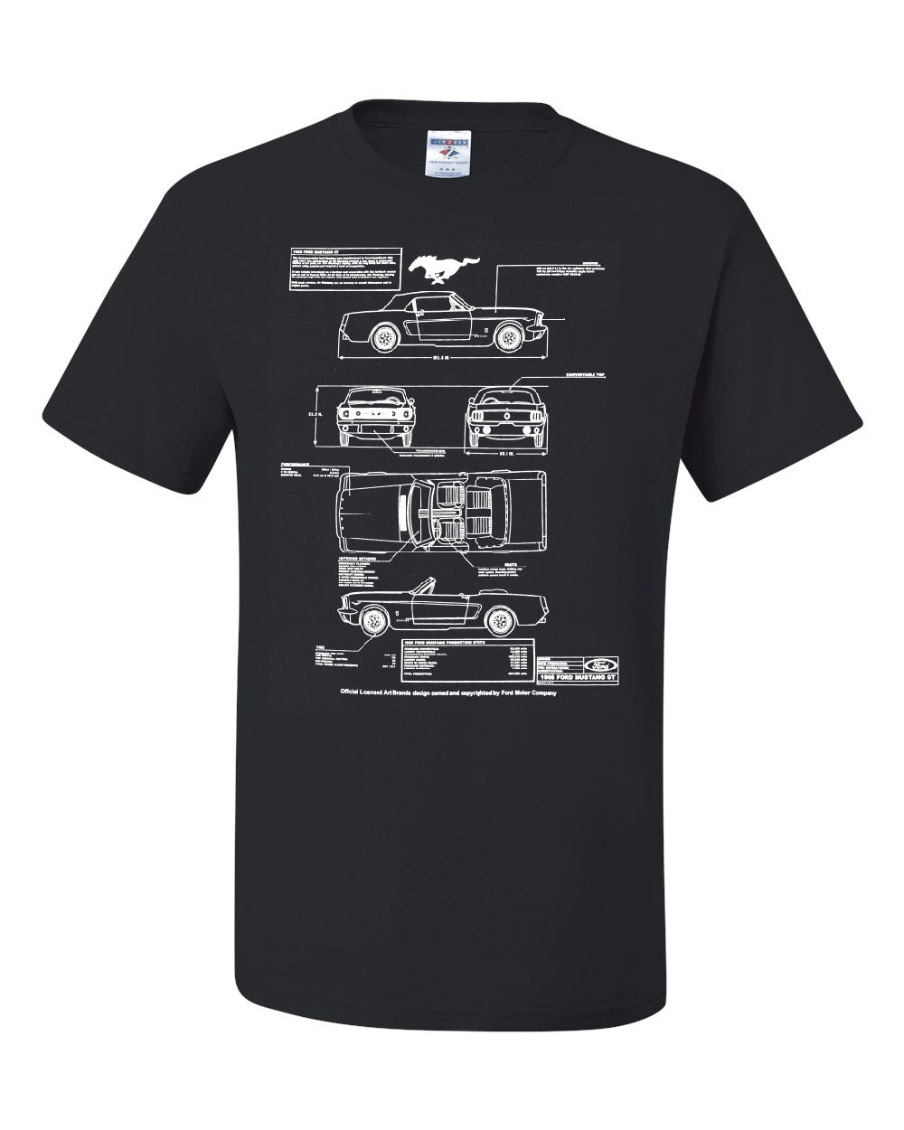 Ford Mustang Gt Blueprint T Shirt American