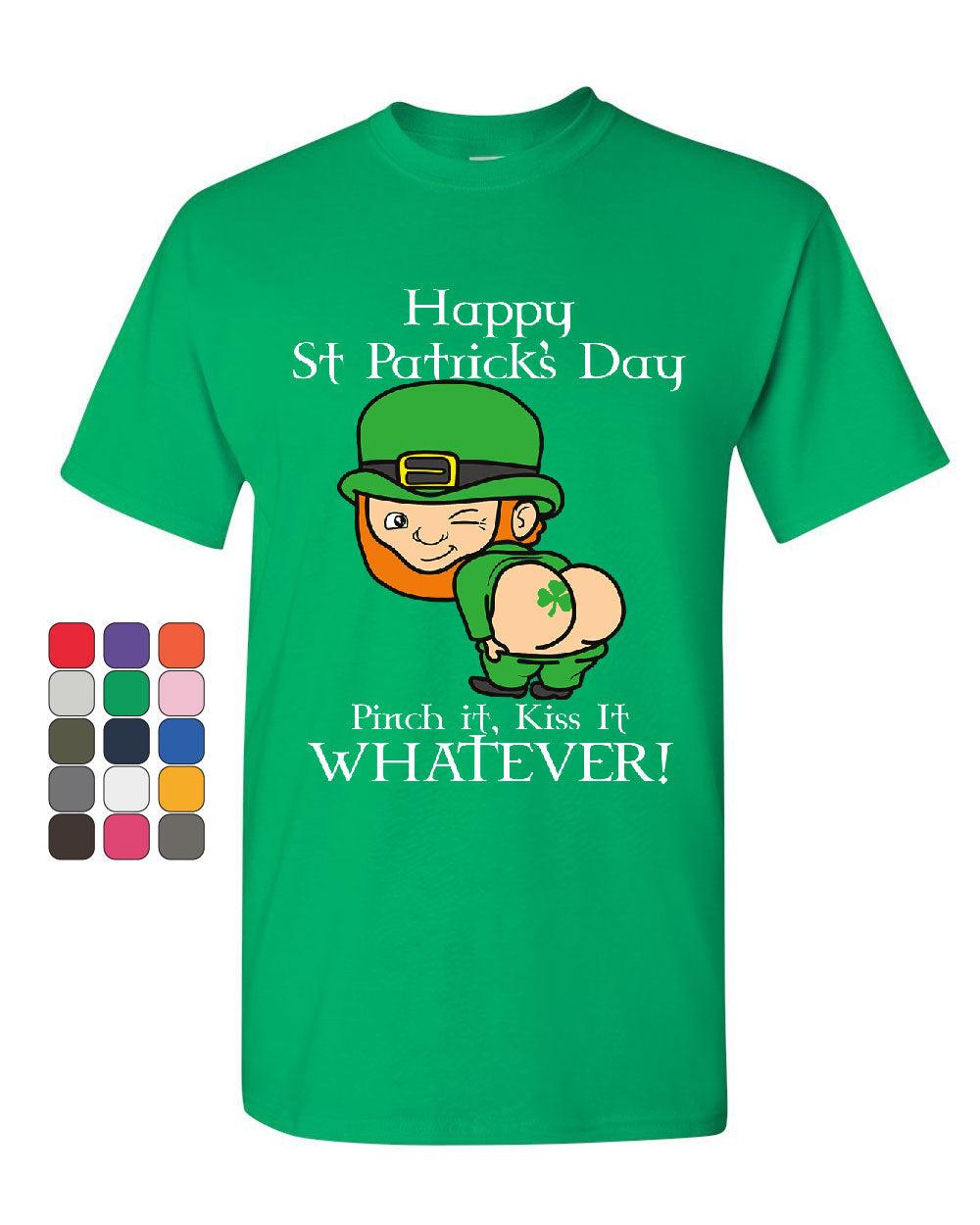 f6344f27 Leprechaun Bottom Pinch It T-Shirt St. Patrick's Day Funny Beer Mens Tee  Shirt