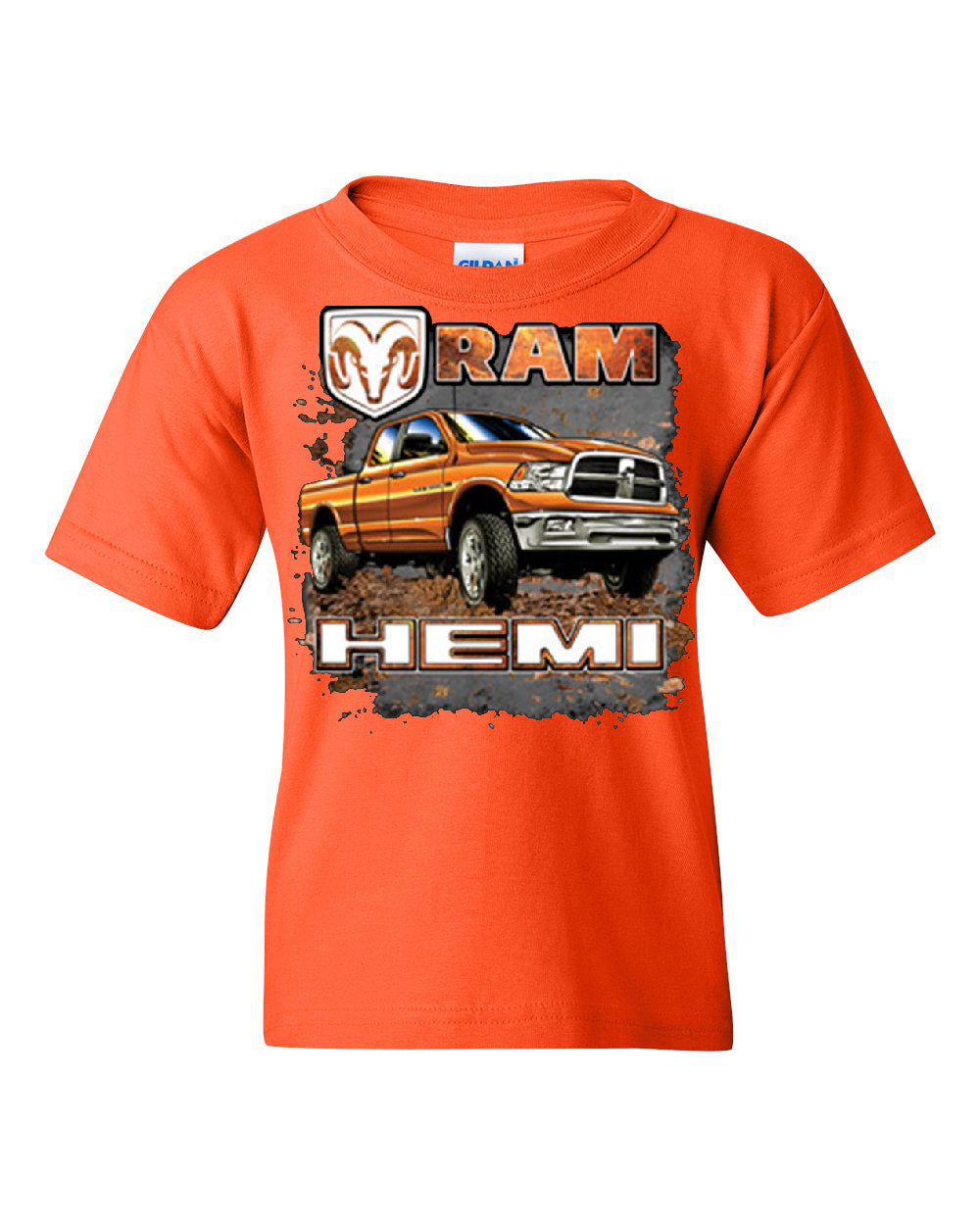 Dodge Ram Hemi Youth T Shirt Dodge Truck Offroad Licensed