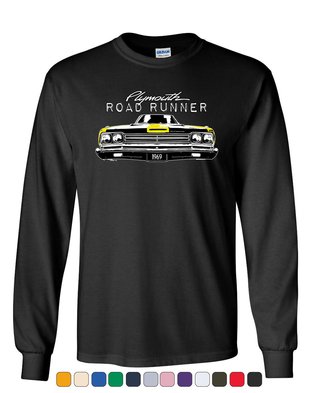 Plymouth Road Runner 1969 Youth T-Shirt Route 66 American Made Classic Kids Tee