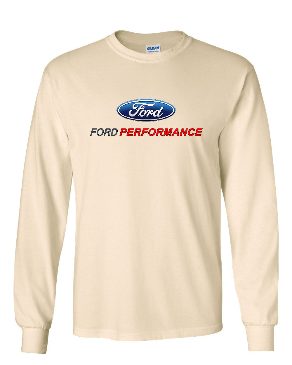 ford performance long sleeve t shirt ford mustang gt st. Black Bedroom Furniture Sets. Home Design Ideas