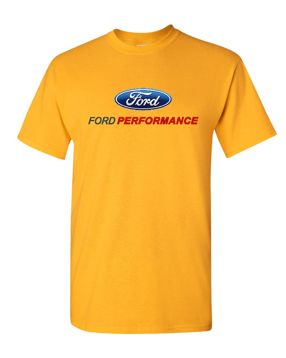 Ford Mustang Racing Stripe Design Blue Men S Size Tee: Ford Performance T-Shirt Ford Mustang GT ST Racing Tee