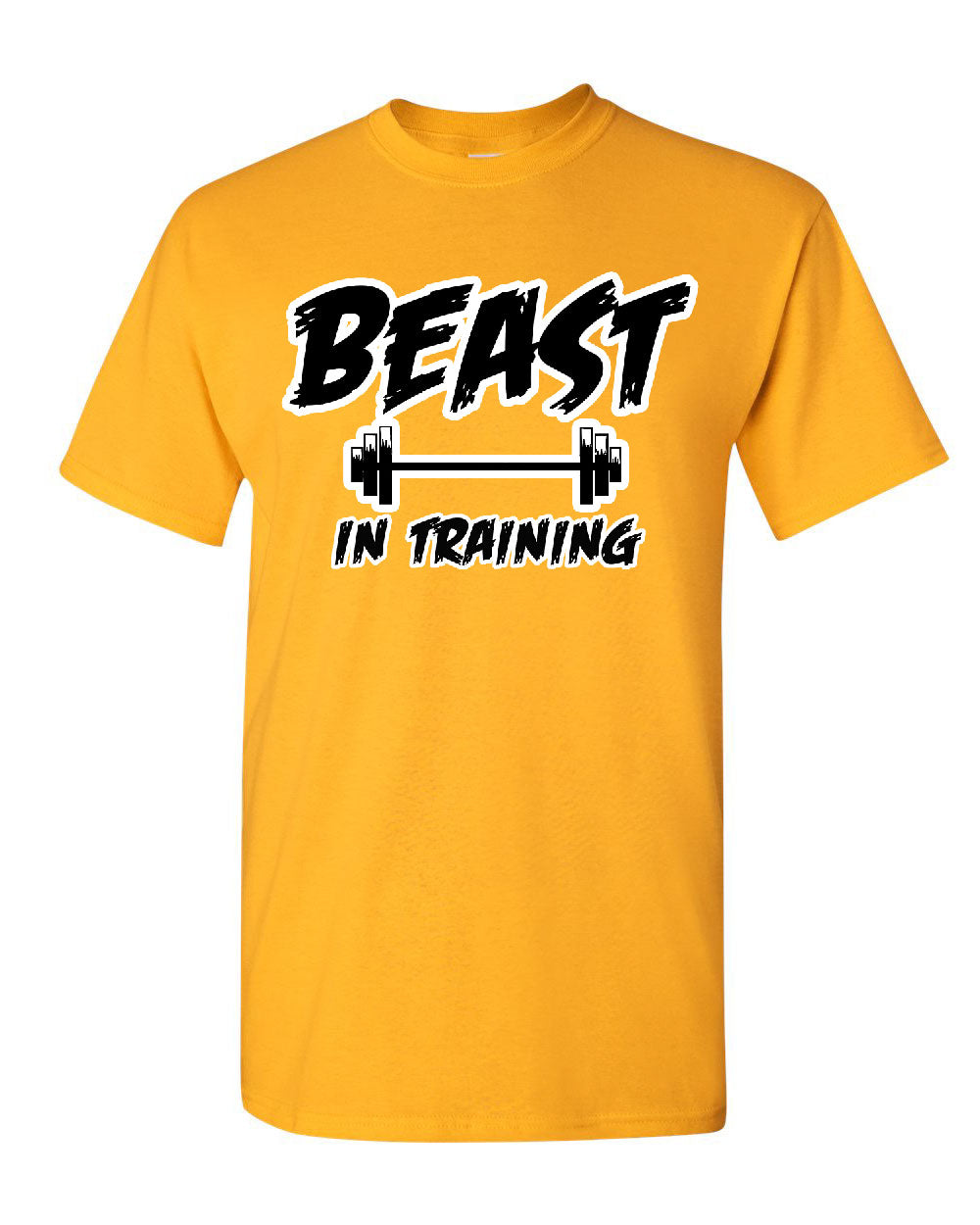 Beast In Training T Shirt Funny Gym Workout Fitness Tee