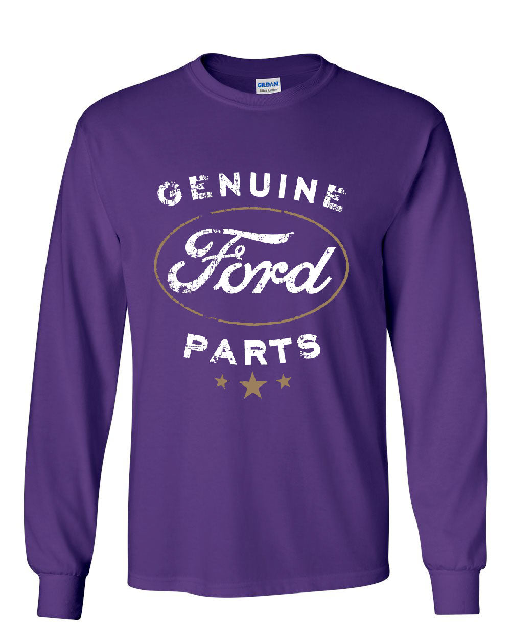 Genuine ford parts long sleeve t shirt distressed