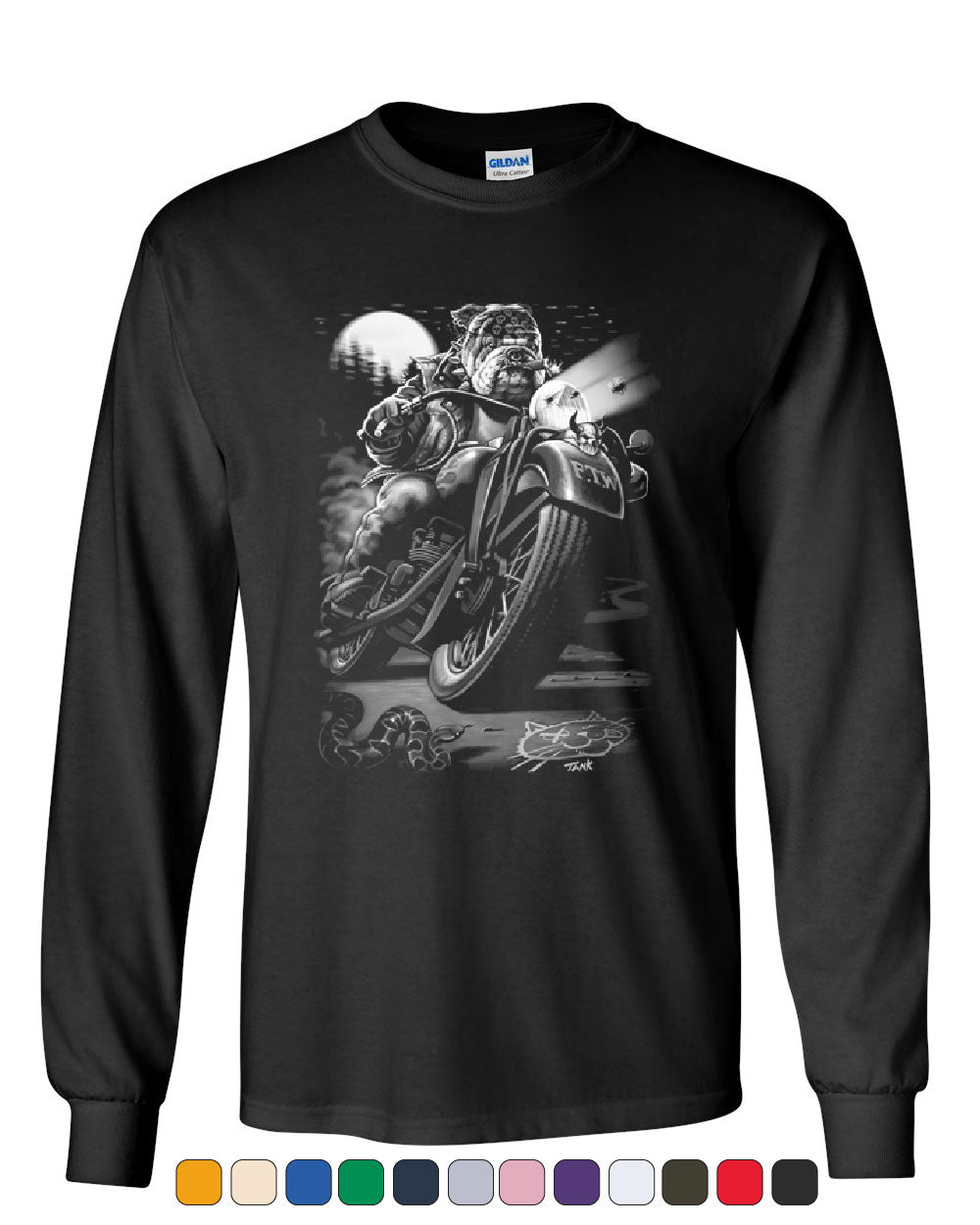 Size L 3XL up to 5XL Extra Charge By Biker T-Shirt Cats Suck Biker