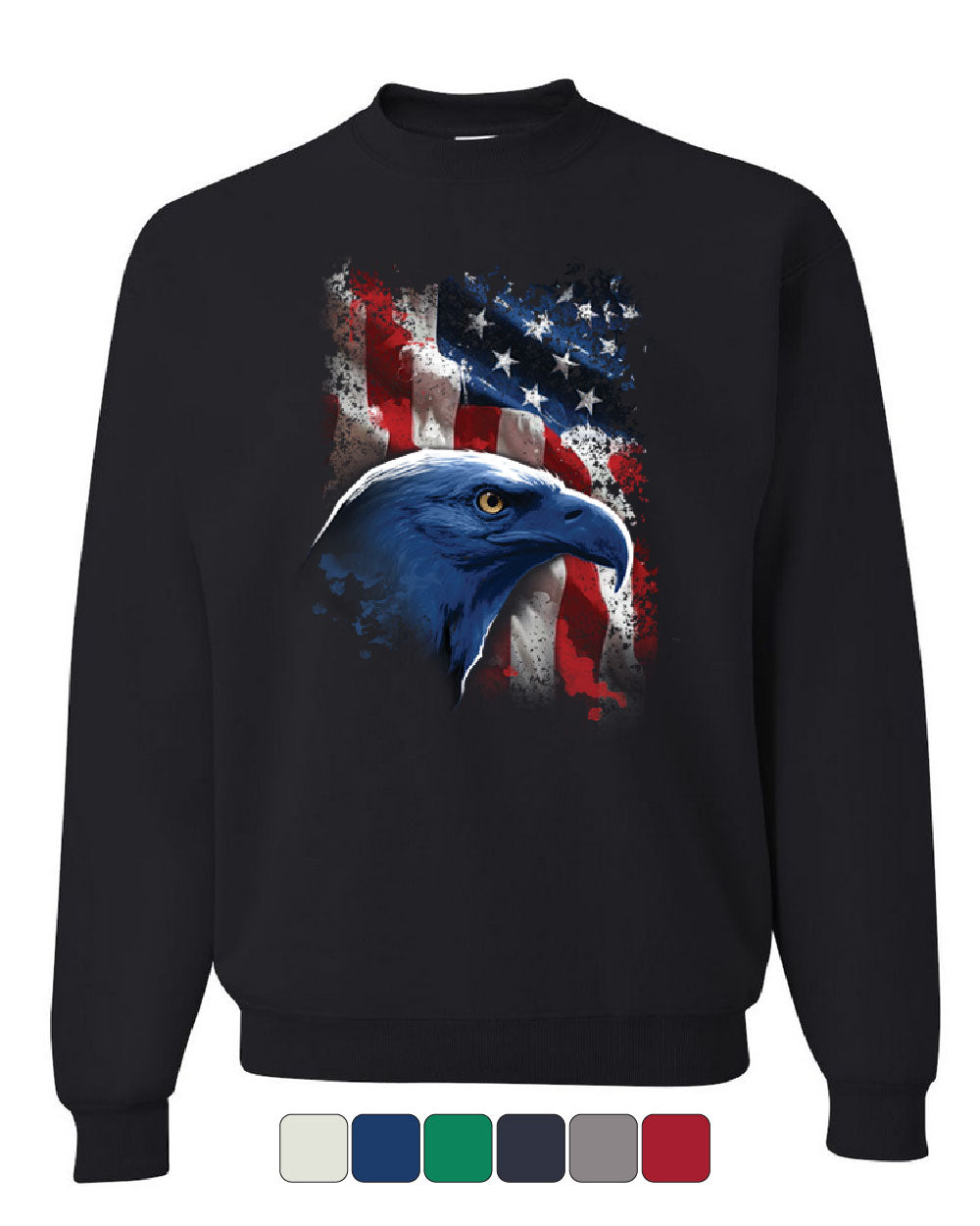 Land of the Free Women/'s Long Sleeve Tee 4th of July Bald Eagle American Flag