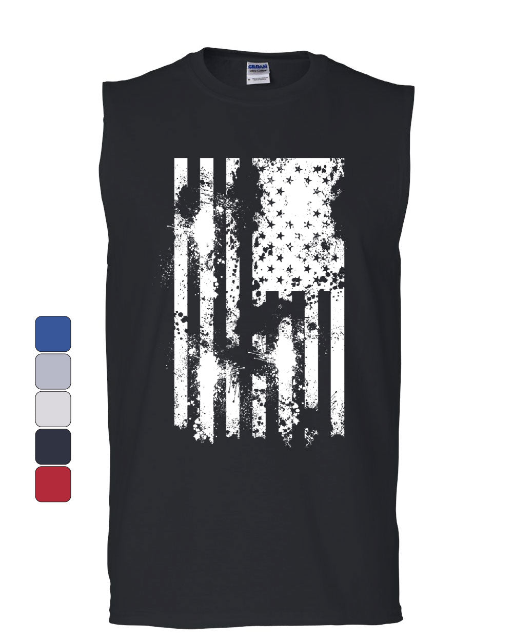 f56f9bbad8 American Flag Muscle Shirt Patriot Stars and Stripes USA 4th of July  Sleeveless