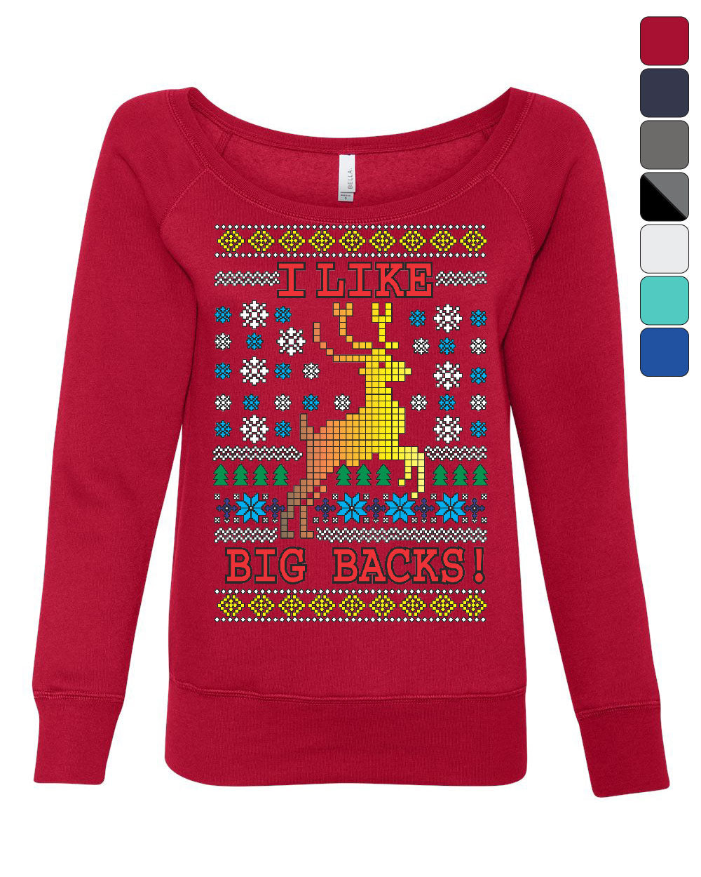 Ugly Sweater Christmas.Details About I Like Big Racks Ugly Sweater Women S Sweatshirt Christmas Reindeer Boobs