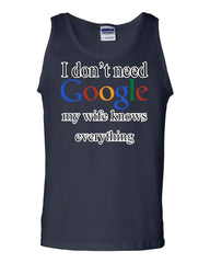 I Don't Need Google Tank Top Funny Marriage Anniversary - Tee Hunt - 5