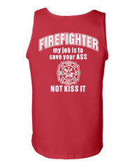 Firefighter My Job Is To Save Your ASS Tank Top Funny Muscle Shirt - Tee Hunt - 5