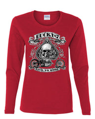 Lucky 7 Bikes Booze Broads Long Sleeve T-Shirt Live To Ride Route 66 - Tee Hunt - 6