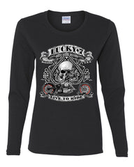 Lucky 7 Bikes Booze Broads Long Sleeve T-Shirt Live To Ride Route 66 - Tee Hunt - 2