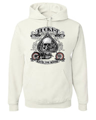 Lucky 7 Bikes Booze Broads Hoodie Live To Ride Route 66 Sweatshirt - Tee Hunt - 8