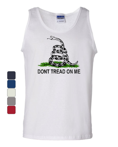 Don't Tread On Me Tank Top Gadsden Flag Rattle Snake Muscle Shirt
