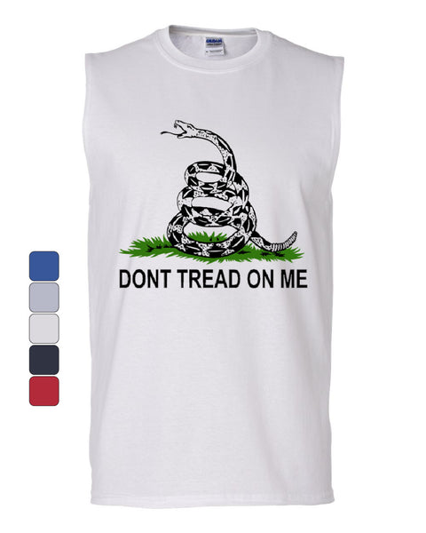 Don't Tread On Me Muscle Shirt Gadsden Flag Rattle Snake - Tee Hunt - 1