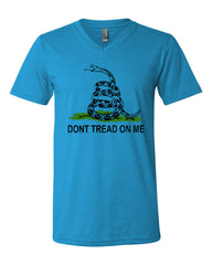 Don't Tread On Me V-Neck T-Shirt Gadsden Flag Rattle Snake Tee - Tee Hunt - 7