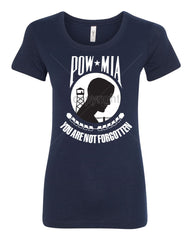 POW MIA You Are Not Forgotten Women's T-Shirt Patriotic Tee - Tee Hunt - 5