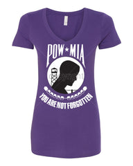 POW MIA You Are Not Forgotten V-Neck T-Shirt Patriotic - Tee Hunt - 10
