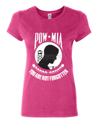 POW MIA You Are Not Forgotten Cotton T-Shirt Patriotic - Tee Hunt - 6